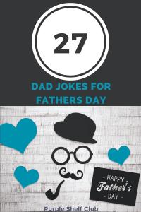 Dad Jokes for Fathers Day-Pin-Purple Shelf Club