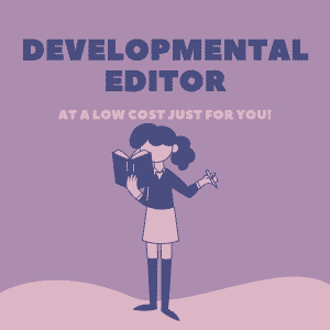 developmental editor ad-purple shelf club